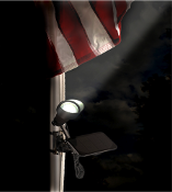Mini 50X Solar Flag Pole Spotlight