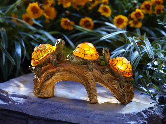 Solar Powered Turtles on a Log