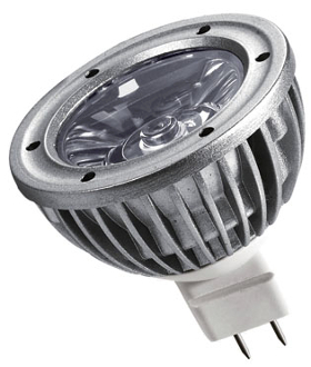 3 Watt Omega High Power LED Spotlight 12Vdc