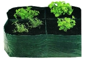 Four Square Grow Bag - Dark Green