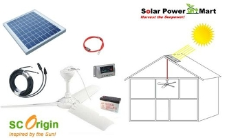 10W Solar Power Ceiling Fan Do It Yourself Kit