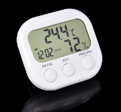 Digital Thermometer Hygrometer with Alarm Clock
