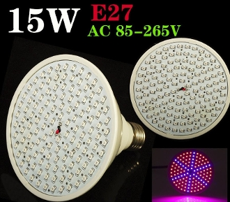 LED Grow Light Bulb - 15W E27 SMD 126 LED