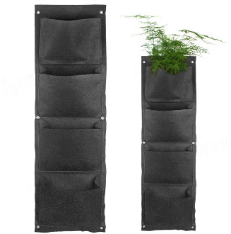 Vertical Wall Planter Bag - 3 Pocket