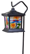 Solar Floral Stained Glass Light