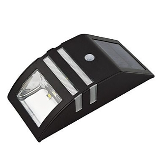 Solar Dual LED PIR Sensor Wall Light