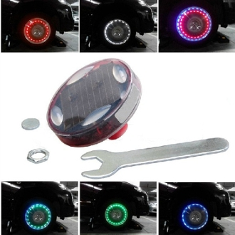 Solar Decorative Car Motorcycle Wheel Light - Set of 2 Lights