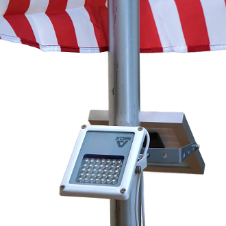 Mini Alpha180X Solar Flag Pole Flood Light