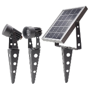 Mini 50X Twin Solar Spotlight Set Gunmetal Colour